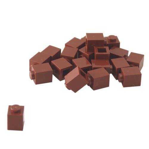 20 NEW LEGO Brick 1 x 1 Reddish Brown