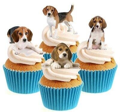 30 English Bulldog Cupcake Decorations Edible Cake Rice Paper Toppers