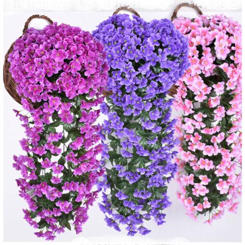 Hängende Künstliche Violetten Hochzeit Hause Balkon Dekor Kunstblumen Girlande