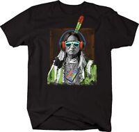 Tshirt -native Americans Indian Headphones Cassette Sunglasses
