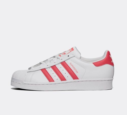 Junior Adidas Superstar White//Pink Trainers RRP £49.99
