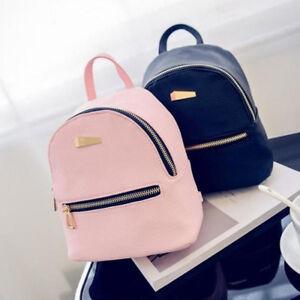 Image Is Loading Fashion S Faux Leather Mini Backpack Handbag School