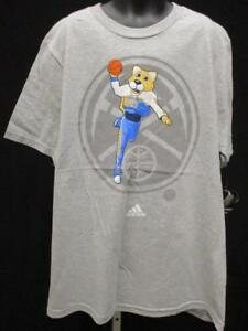 New Denver Nuggets Youth Size L Large 14/16 Gray Adidas Shirt MSRP