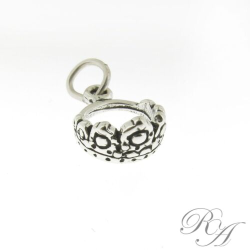 925 Sterling Silver Tiara Crown Charm Made in USA