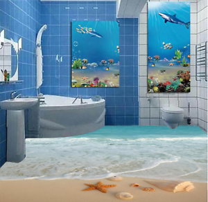 3D Beautiful Beach 41 Floor WallPaper Murals Wall Print 5D AJ WALLPAPER AU Lemon
