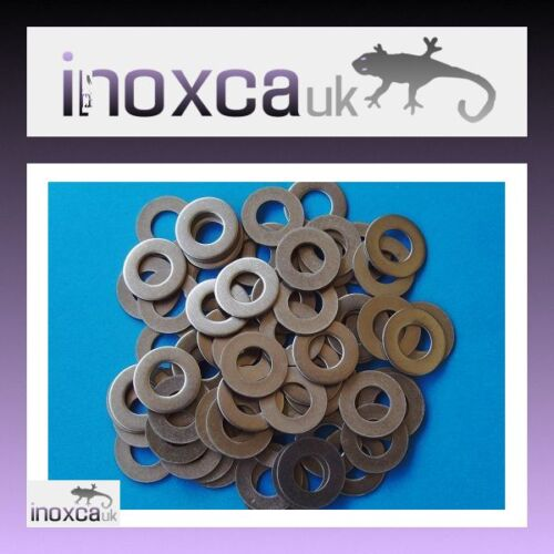 60 M8 FLAT WASHERS  BS 4320 FORM B GRADE A2 STAINLESS STEEL 304 METRIC 8mm INOX