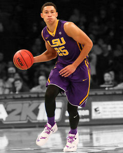 Image is loading LSU-Tigers-BEN-SIMMONS-Glossy-8x10-Photo-Spotlight- 30c64d69c