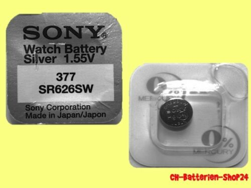 35 x Sony 377 Knopfzellen V377 UhrenBatterien SR626SW SR66 Silber-Oxid AG4