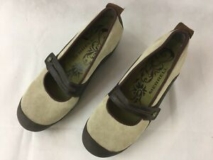 Merrell-Womens-Size-9-Plaza-Bandeau-Dark-Taupe-Suede-Mary-Janes-NEW-NEVER-WORN
