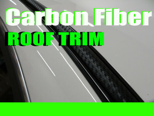 forPONTIAC 2000-2010 2pcs 3D BLACK CARBON FIBER ROOF TOP TRIM MOLDING DIY KIT
