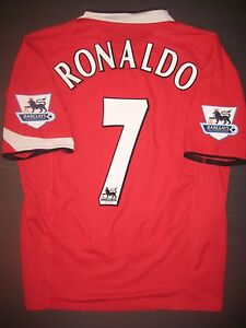 sports shoes 091ea 20ebf Details about 2004-2006 Nike Manchester United Cristiano Ronaldo Jersey  Shirt Kit Real Madrid