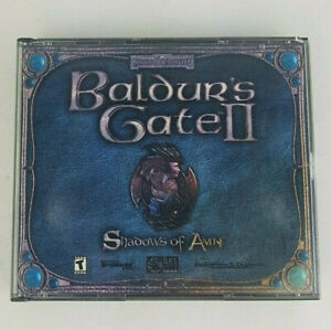 Baldur-039-s-Gate-2-II-Shadows-of-Amn-PC-2000-4-Very-Mint-Disks