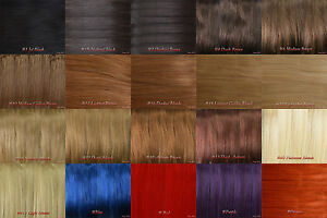 AAA-15-034-36-034-Remy-Human-Hair-Weft-Extensions-STRAIGHT-100-G-largeur-59-034-plusieurs-couleurs