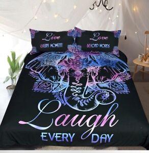 Queen Size Elephant Bedding.Details About Elephant Bedding Set Duvet Cover Bed Cover Queen And King Size 3 Pcs Set