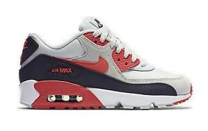 low priced d78ce 84d04 Image is loading NIKE-AIR-MAX-90-LTR-GS-LEATHER-833376-