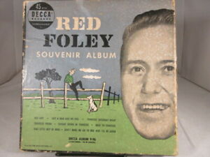 Red-Foley-45-RPM-Vinyl-Record-Set-Souvenir-Album-4-Disc-Decca-Label-1950-Vtg-VG