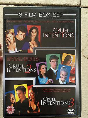 Sarah Michelle Gellar Reese Witherspoon CRUELES INTENCIONES Trilogy 1-2-3 GB DVD