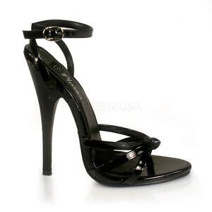 15dc37dd7769ab Das Bild wird geladen Domina-108-Devious-Damen-High-Heels-Stiletto- Sandaletten-