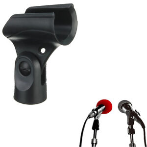 Black-Flexible-Mic-Microphone-Accessory-Stand-Plastic-Clamp-Clip-Holder