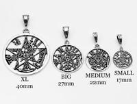 925 Sterling Silver Tetragrammaton Pentagram Pagan Wiccan Pendant