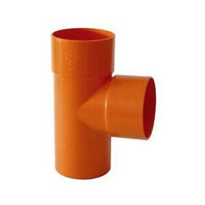 BRAGA-DERIVATION-TES-87-30-039-POUR-TUBE-PVC-ORANGE-DIAMETRE-40-mm-REDI