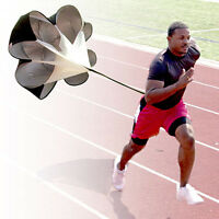 56 Speed Resistance Training Parachute Running Chute Football Training Black on sale