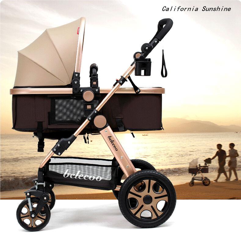 Lujo Recién nacido Carro Viajar silla de paseo Coche plegable cochecito de bebé