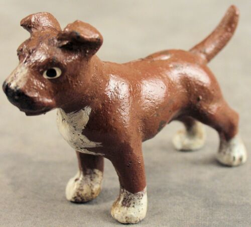 AMERICAN PIT BULL STAFFORDSHIRE TERRIER Cast Iron MINIATURE STATUE PAPERWEIGHT