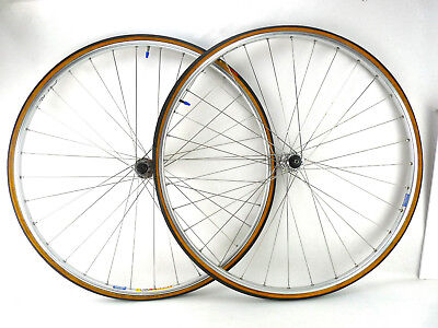 Campagnolo Wheelset Record Hubs 700C Rims Clement Tires 9-10-11 speed Retro