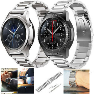Stainless-Steel-Frosted-Watch-Strap-Band-Bracelet-Wrist-22mm-For-Samsung-Gear-S3