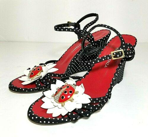 Ramon Tenza Lady Bug Sandals size 5.5 B Polka Dot