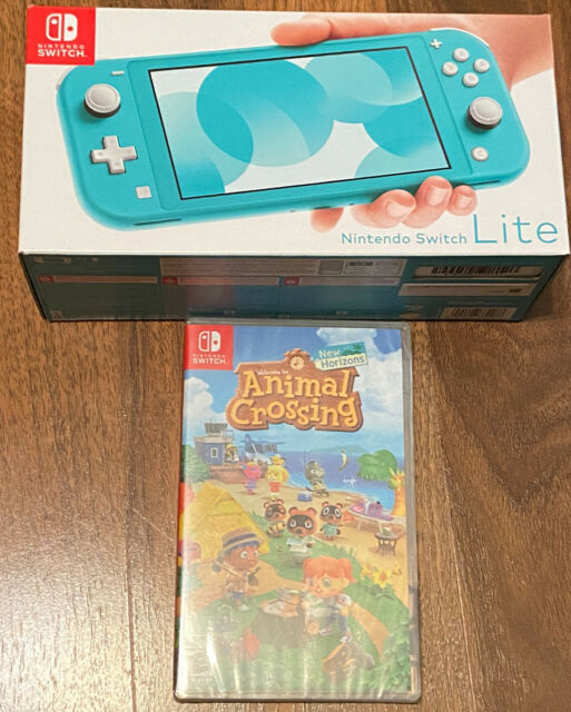 Nintendo Switch Lite Turquoise console Animal Crossing ...