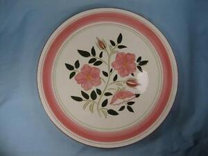 Wild-Rose-12-034-Chop-Plate-Round-Platter-Stangl-Pottery-Pink-Flowers-Vintage-O