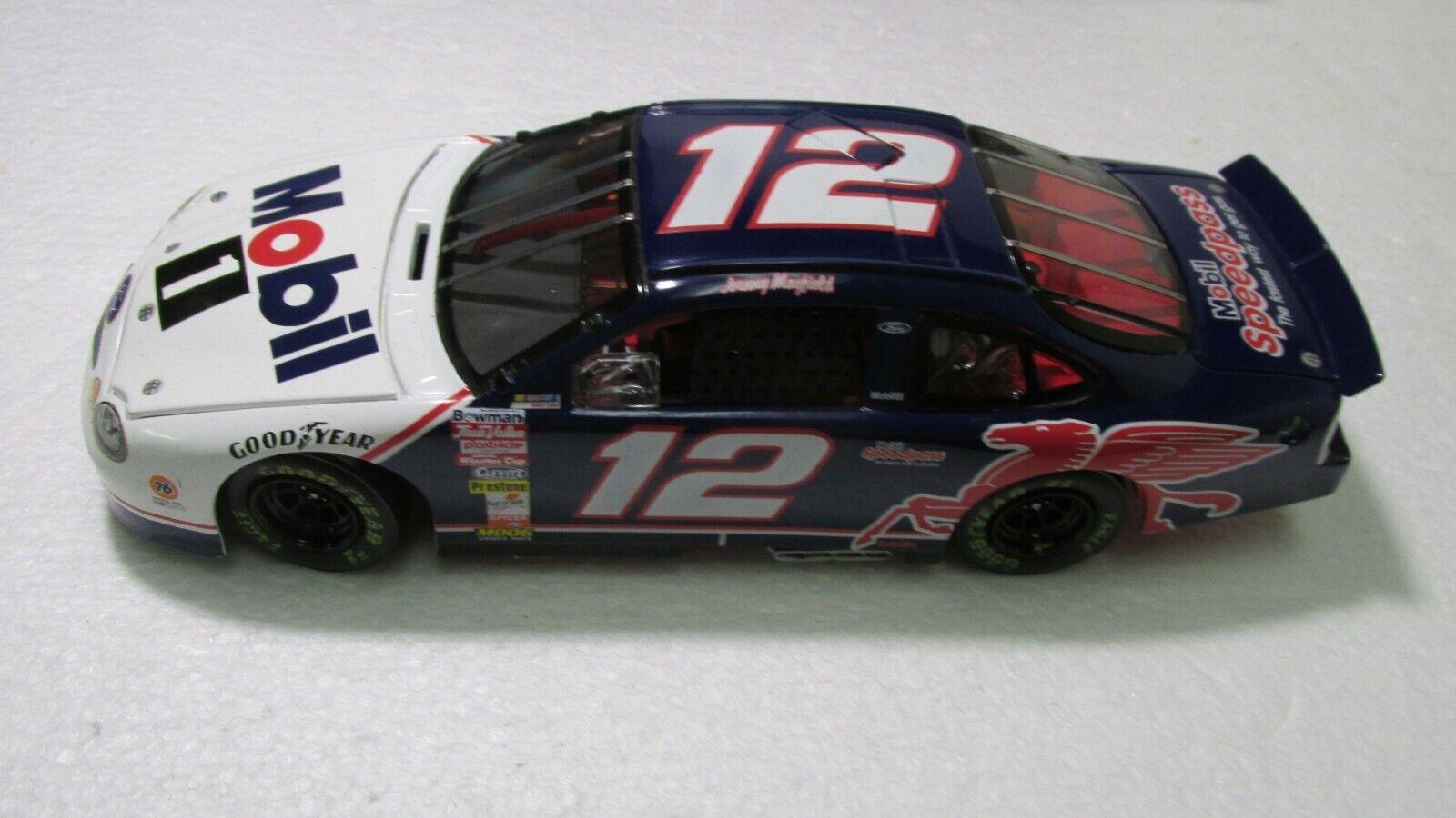 Action  Racing Elite Jeremy Mayfield  12 Mobil 1 1999 Ford 1 24 Échelle Miniature  limite acheter
