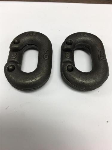 "Heavy Duty Industrial Hoist Link Chain Connector F3B 7//16/"" Crosby USA 2PC LOT"