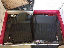 WeatherTech Floor Mats Three Piece Set Toyota Tundra Double Cab 2014-2017 Black