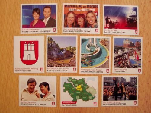 Panini Hamburg sammelt Hamburg Serie 2-50  Sticker  aussuchen Neu