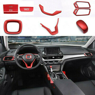 8x for honda accord 2018 2020 abs red interior accessories whole kit covers trim ebay 8x for honda accord 2018 2020 abs red interior accessories whole kit covers trim ebay