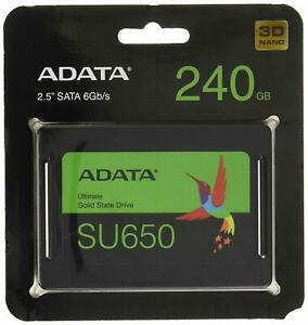 "Adata Ultimate Su650 Interne Solid State Drive 2.5"" 240 Go Serial Ata Iii Slc-afficher Le Titre D'origine AgréAble à GoûTer"