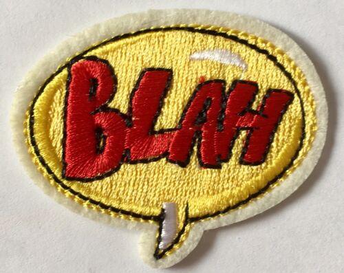 B Comic Aufnäher Aufbügler Cartoon patch Bügelbild Sprechblase iron on patches