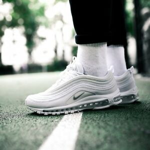 super popular 6d4b2 58ff4 Image is loading Nike-Air-Max-97-OG-White-Wolf-Grey-