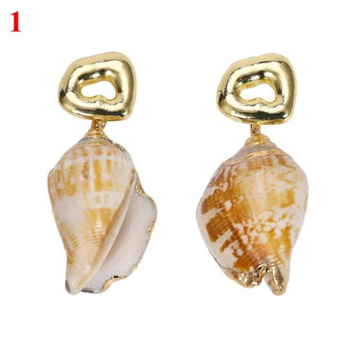 Dangle Drop Party Alloy Beach Jewelry Nature Seashell Conch Stud Shell Earrings
