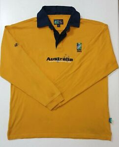 Rugby-World-Cup-2003-Line-7-Australia-Wallabies-Men-039-s-Jersey-Size-M-Official