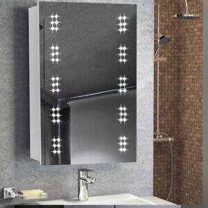 Illuminated LED Bathroom Cabinet Mirror with Shaver Socket ...