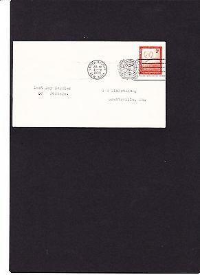 Vereinte Nationen Uno New York Brief Mi.nr.62 Mit Sloganstempel 31.07.58 Echt Gelaufen Siehe Scan ZuverläSsige Leistung
