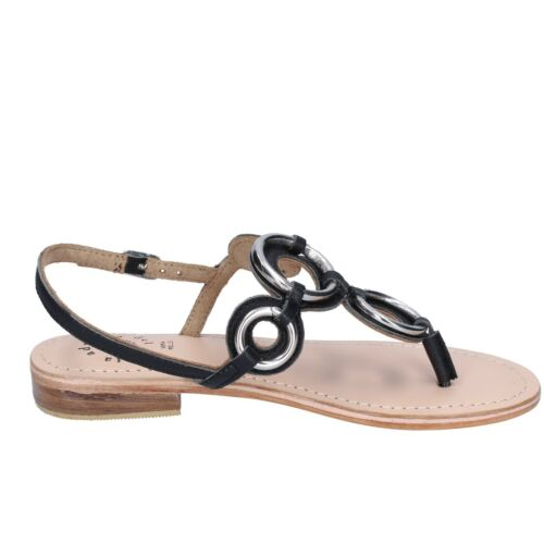 sandals black leather BK994-36 EU 36 Details about  /Women/'s shoes ADRIANA DEL NISTA 6
