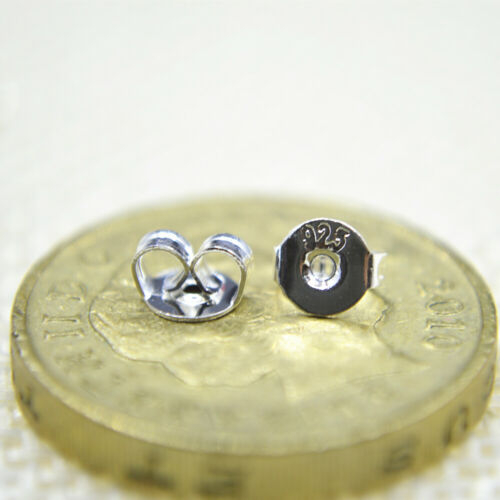 Shiny Solid 925 Sterling Silver Cute Small Love Heart Plain Stud Earrings Gift