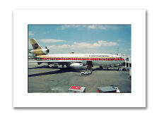 Mounted photographic print - Continental Airlines DC10 (12 x 16 inch)
