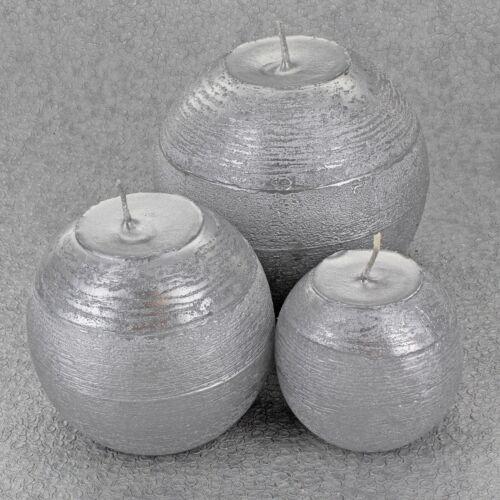 Silver Antique Bougies Rondes par G decor