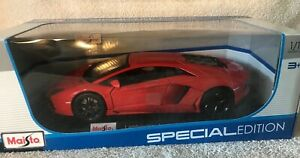 Lamborghini-Aventador-Coupe-1-18-Maisto-Special-Edition-Naranja-Nuevo-en-Caja